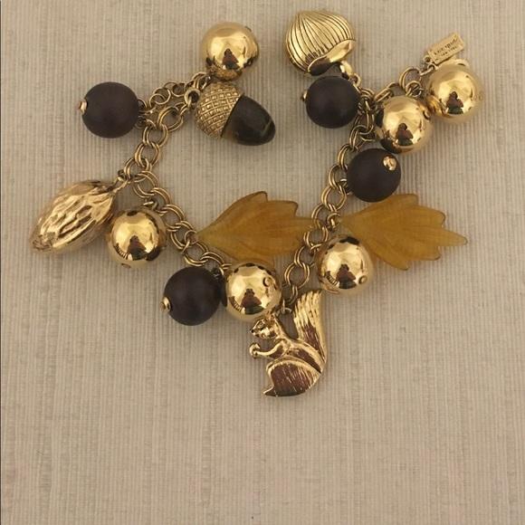 NWOT  Kate Spade Squirrel Charm Bracelet